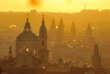 Prague Town at Sunrise