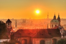 Prague Sunrise Photo
