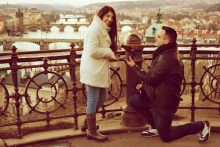Hire photographer in Prague for betrothal